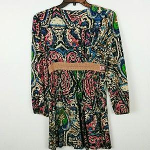 25272cf61ec Flying Tomato Dresses - FLYING TOMATO Tunic Dress Tribal print size 2